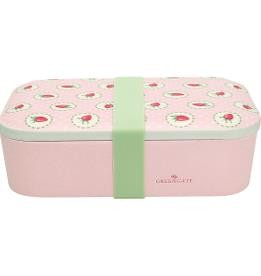 Bamboo lunch box strawberry pale pink