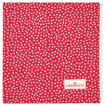 Bread basket napkin dot red
