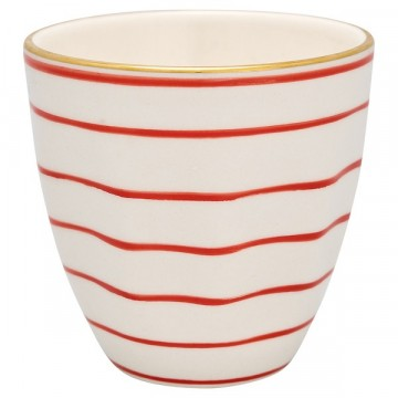Cup Sally red with gold