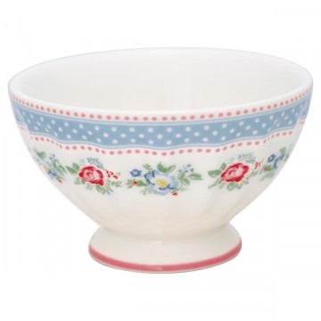 Evie white french bowl M