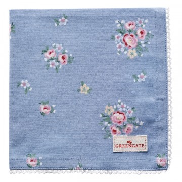 Bread basket napkin Nicoline dusty blue