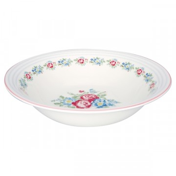 Henrietta white salad bowl