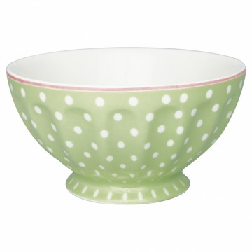 French bowl xl spot pale green