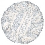 Jenny dusty blue bread basket napkin round