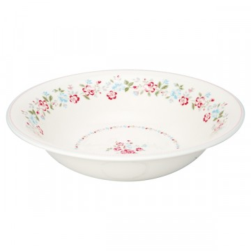Sonia white salad bowl