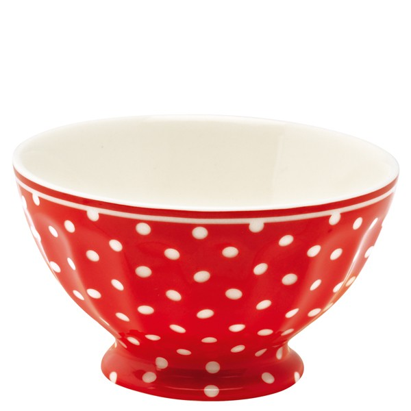 Spot red french bowl large
